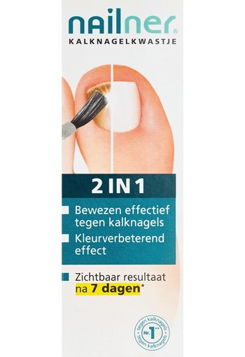 Nailner 2 in 1 brush (5 ml)