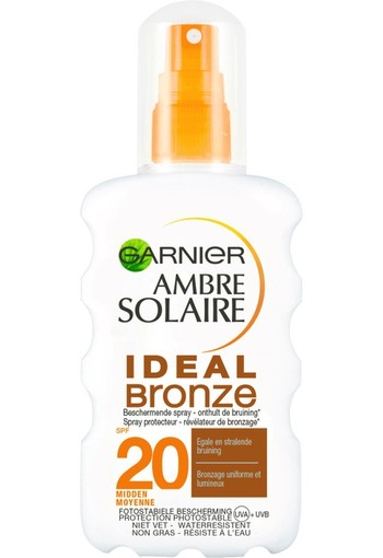 Garnier Ambre Solaire Ideal Bronze Zonnebrandspray SPF20-200ml