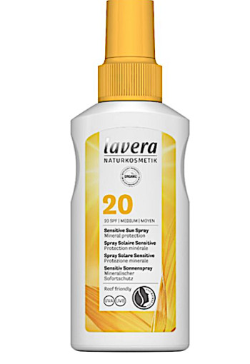 Lavera Zonnebrand/sensitive sun spray SPF20 (100 ml)