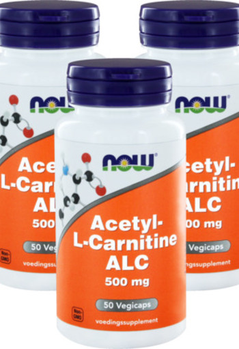 Now Acetyl L Carnitine 500 Mg Trio 3x 50cap