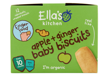 Ella's Kitchen 10+ Baby Biscuits Apple Ginger Bio 108 gram