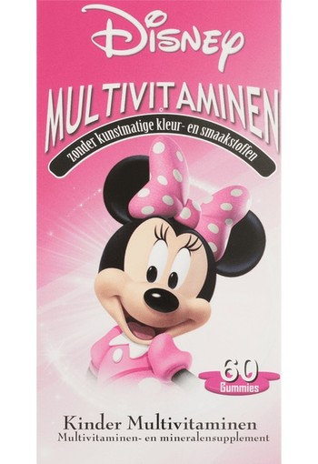 Disney Minnie Mouse Kinder Multivitaminen Gummies  smelttablet 150 GR