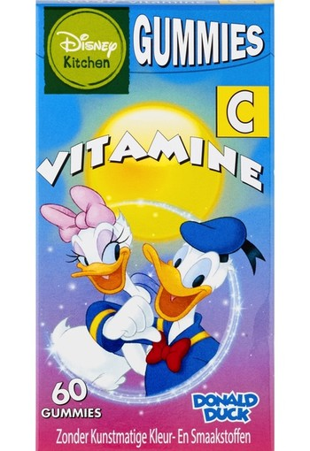Disney Donald/Katrien Vitamine C Gummies Aardbei  60 stuks smelttablet