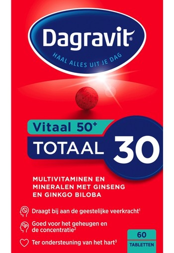 Dagravit Totaal 30 Vitaal 50+ Multivitaminen  tablet 38 GR tablet