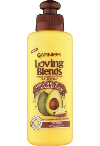 Garnier Loving Blends Avocado Olie & Karité Boter Leave-In Crème 200 ML
