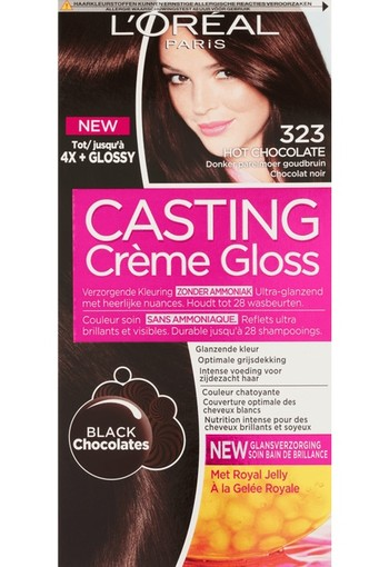 L'Oréal Paris Casting Crème Gloss Verzorgende Haarkleuring 323 Hot Chocolate160 ml