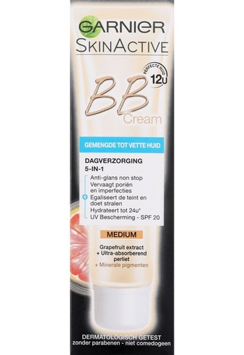 Garnier Skin NatGarnier Skin Naturals Miracle Skin Perfector BB Cream SPF20 Medium 40 ml