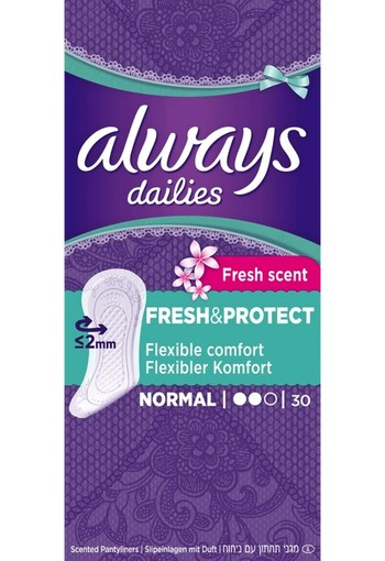 Always Dailies Fresh & Protect Inlegkruisjes Normal Fresh 30 st.