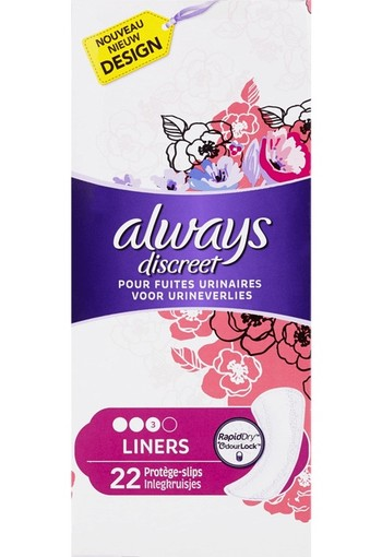 Always Discreet Inlegkruisjes Voor Urineverlies 22 st