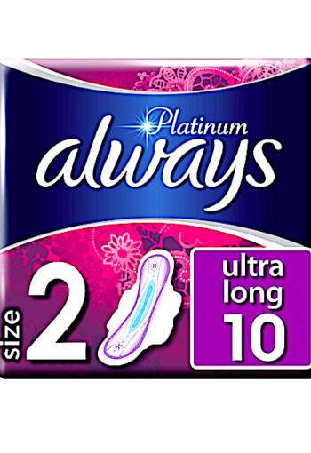Always Platinum Ultra Long Maandverband 10 st