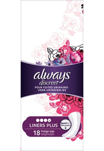Always Discreet Inlegkruisjes Voor Urineverlies Plus 18 st