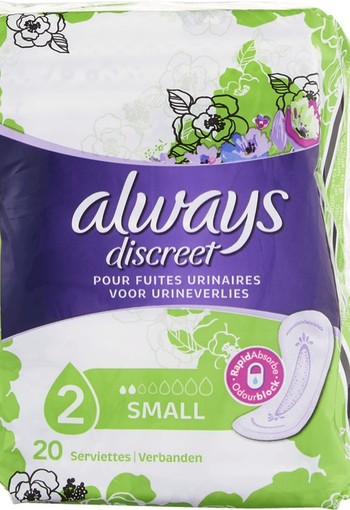 Always Discreet Verband+ Voor Urineverlies Small 20 stuks