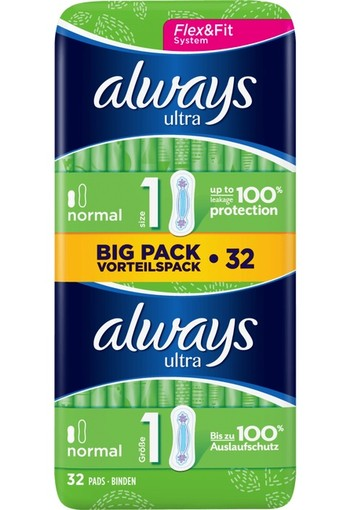Always Ultra Maandverband Normal 32 stuks