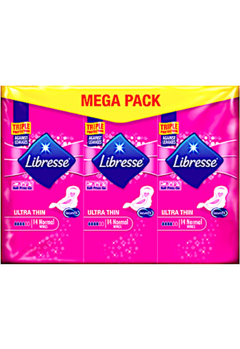 Libresse Ultra Thin Maandverband Normal Wing Mega Pack 42 stuks