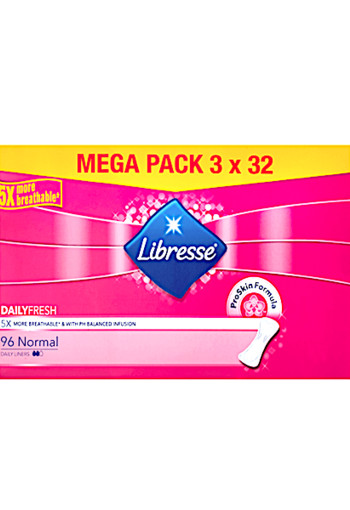 Libresse Daily Fresh Normal Inlegkruisjes Mega Pack 96 stuks