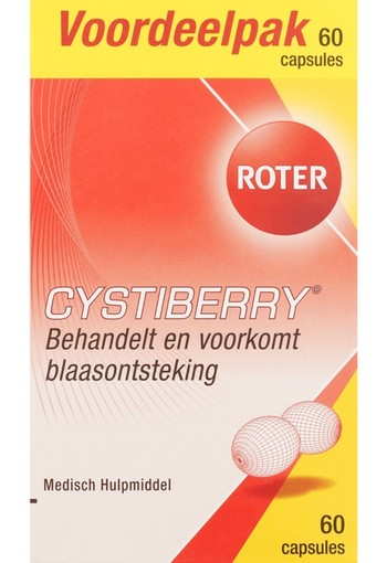 Roter Cystiberry Capsules 60 capsules