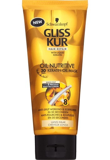 Schwarzkopf Gliss Kur Oil Nutritive 30 Sec Keratin-Oil-Mask 200 ml