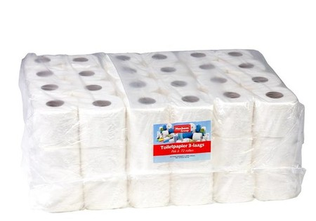 Toiletpapier Traditioneel - 9x8 rollen, 250 vellen, 3 laags